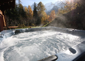 6 Person Hot Tub at La Cachette - Chamonix Chalet Accomodation